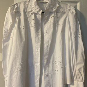 Zara blouses white size medium